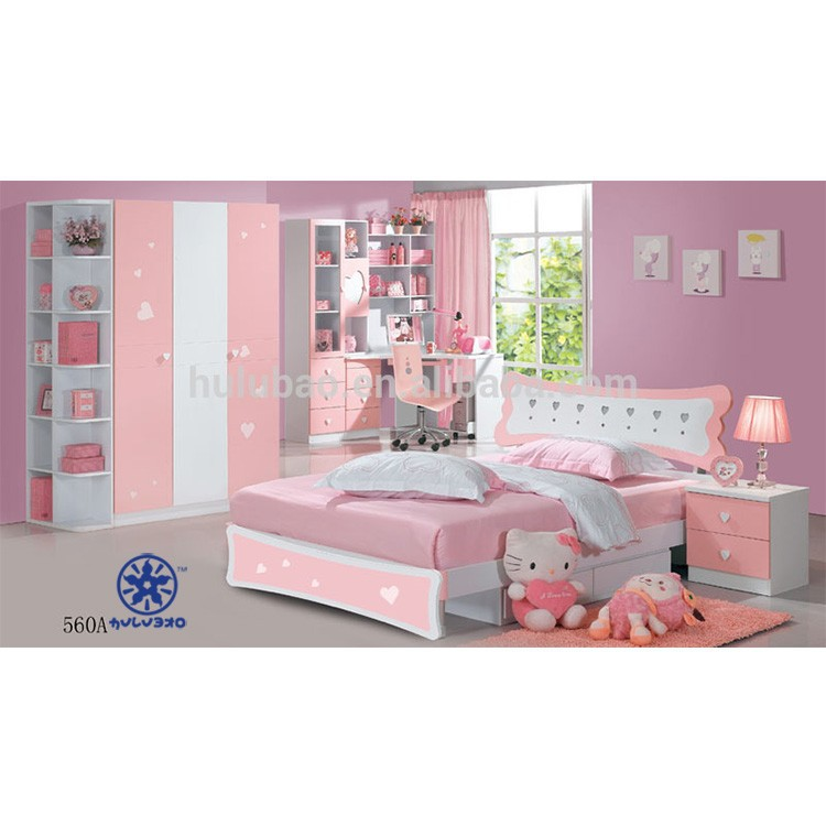 Kids Bedroom Set For Girls/kids Bedroom Furniture Children Bedroom Set Made  In China#560a - Buy Kids Cartoon Bedroom Set,Princess Kids Bedroom ...