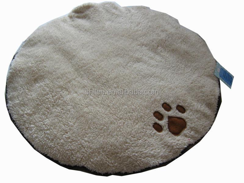 Luxe huisdier mat geluk jacquard hond bed met hond poot