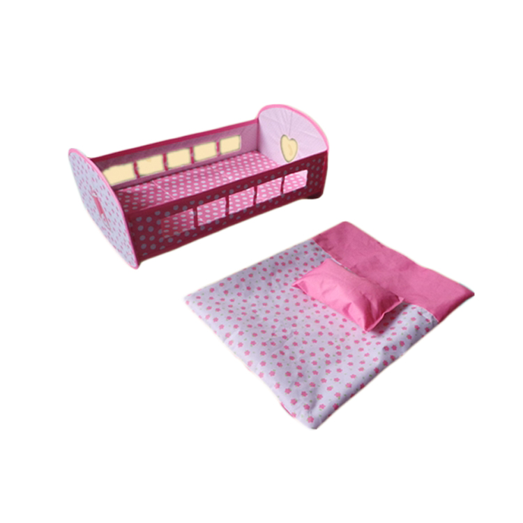 Plastic Baby Doll Crib Furniture Baby Toy Doll Bed
