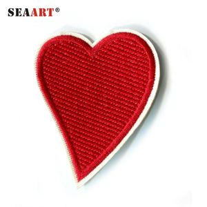Red Heart Love Design Embroidery Patch For Jeans