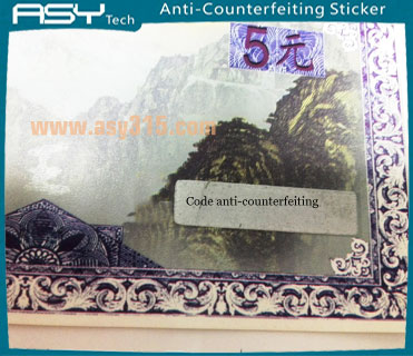 High Quality Hologram sticker  Aluminium Foil Self Adhesive Custom Printed Hologram Anti-counterfeit Label Stickers for Certif