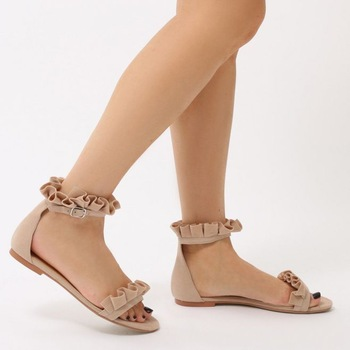 Nude Flat Sandal For Girls Summer Shoes