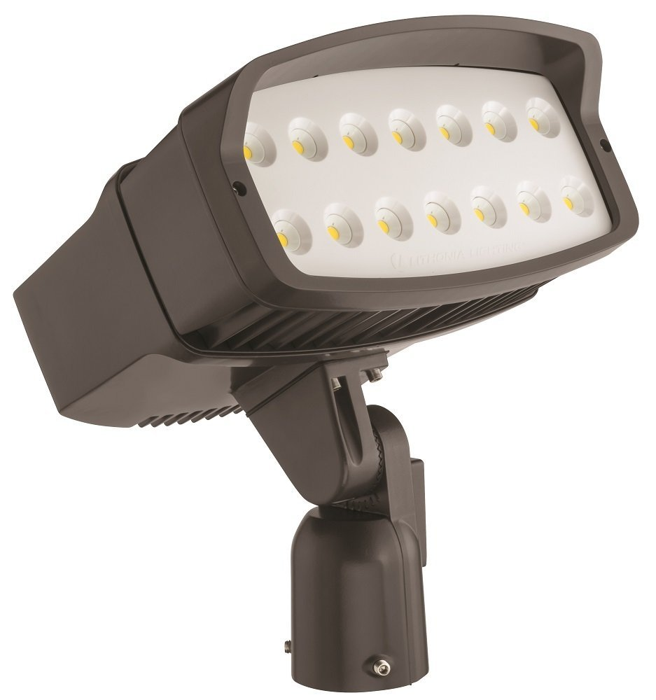 Lithonia Lighting OFL2 LED P3 50K 347 IS DDBXD M2 5000K Color Temperature LED Size 2 Floodlight with P3 Performance Package - Slipfitter Mount