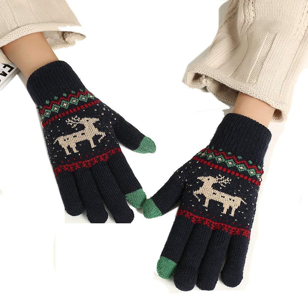 Neear Autumn Winter Women Warmth Gloves Wrist Length Girls Knitting Warm Touch Screen Gloves