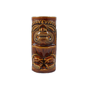 Wholesale Tiki Mugs Vintage Brown Porcelain Glass Custom Tiki Mug