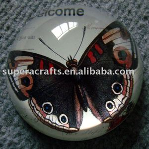 Butterfly Crystal Dome Paperweight,Animal Paper Weight Wholesaler