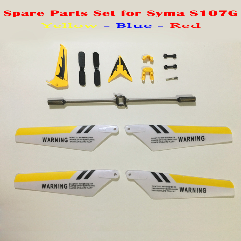 Colorful Syma S107G S107 RC Helicopter Spare Parts Main Blades, Tails, Props,