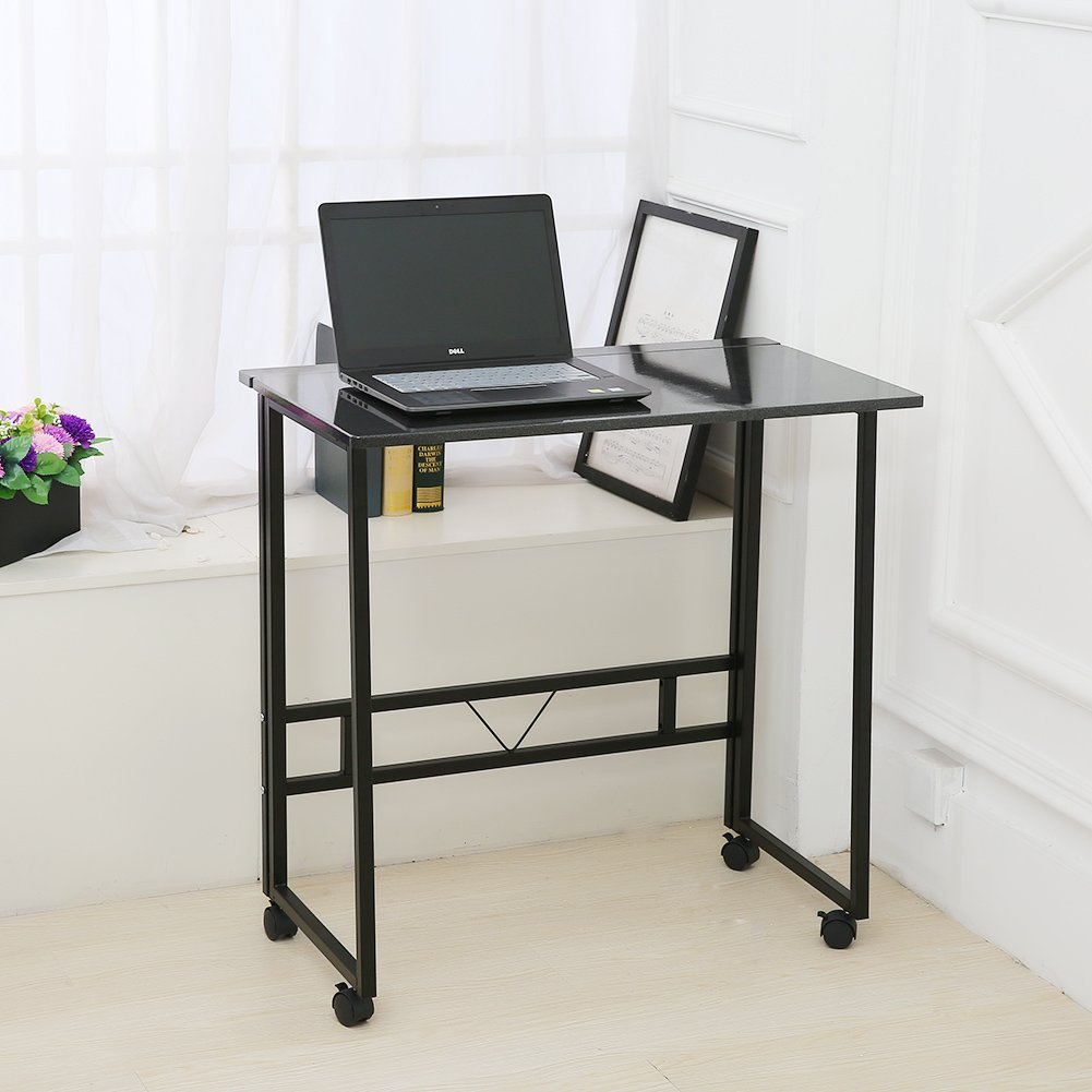- Folding Writing Table Rolling Laptop Notebook Computer Desk With