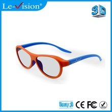 Fashionable adults 3D glasses for digital cinema polarization system with high brightness