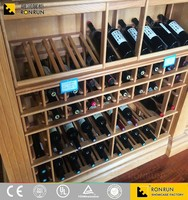 Unique Design Wall Solid Wood Wine Rack for Shopping Mall