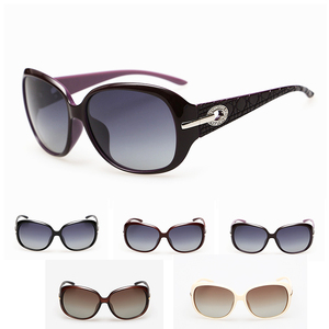 Cat eyes PC cheap promotional logo sunglasses for women
