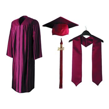 c3a3edd18 Venta caliente de la escuela uniforme marrón tapa de graduación y vestido  robó