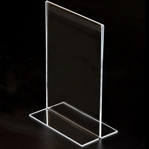 A4 Acrylic Table Top Sign Holder/ Photo Frame /Menu Stand