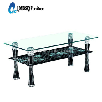 Ls 1072 Hot Sell Glass Coffee Table Cheap Home Goods Used Coffee