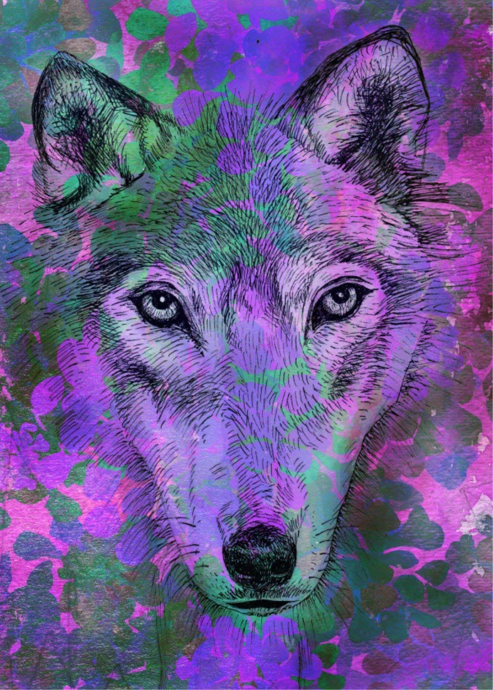 TianMai Hot New DIY 5D Diamond Painting Kits Diamond Embroidery Painting Pasted Paint By Number Kit Stitch Craft Kit Home Decor Wall Sticker - Color Wolf, 30x40cm