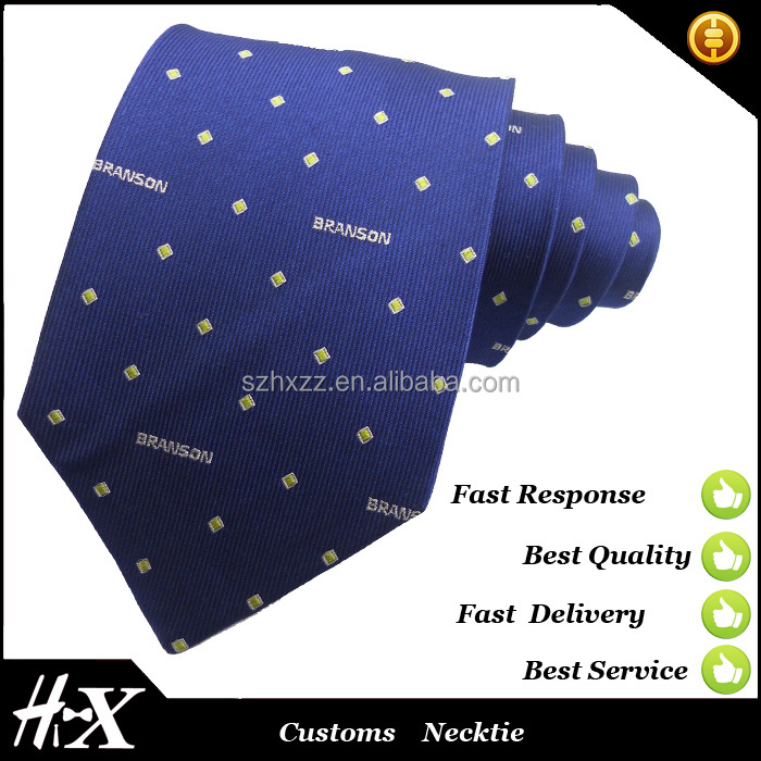 100% silk tie with customs logo