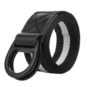 Newest Fabric Belts Online Black White Braided Nylon Weave Belt