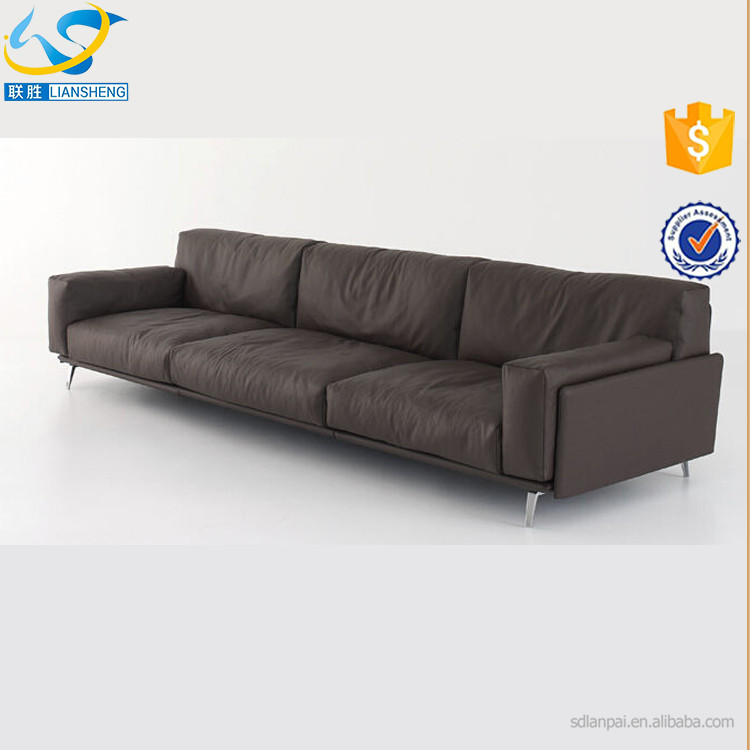 new modern sectional genuine leather sofa living room furniture household article