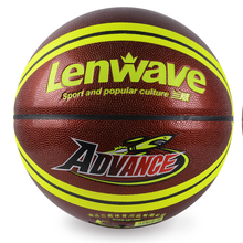 Lenwave brand name basketball ball wholesale basketball in bulk custom printed leather basketball