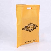 Cheap Promotional die cut recycled non woven t shirt handle bag