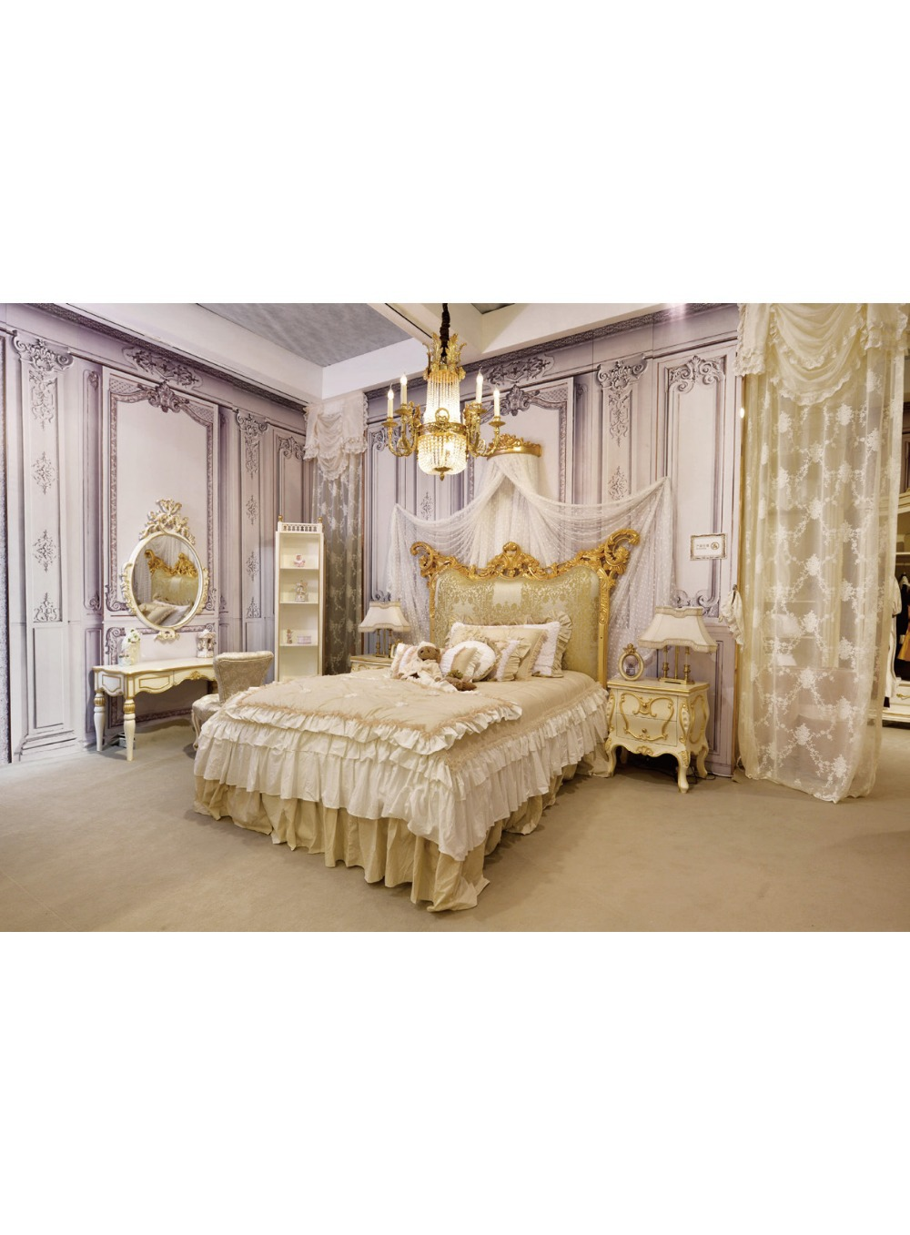 Charmant Get Quotations · European Style Kids Bedroom Set Kid Solid Wood Decorative  Furniture Luxurious Bed Multifunctional Cabinet