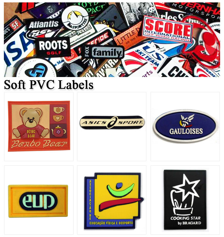 Manufacturer Custom Clothing Label Embossed Rubber Logo Patches