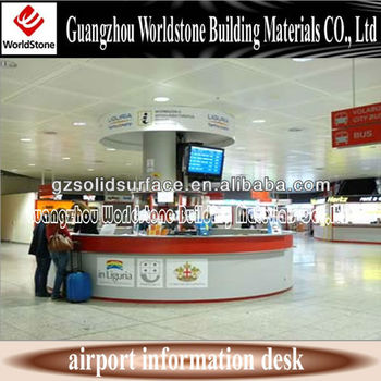 Information Desk Design round airport information desk reception counter design - buy