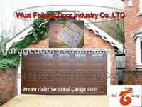 Automation Brown Color Garage Door --- Remote Control Sectional Garage Door & EURO CE Certificated