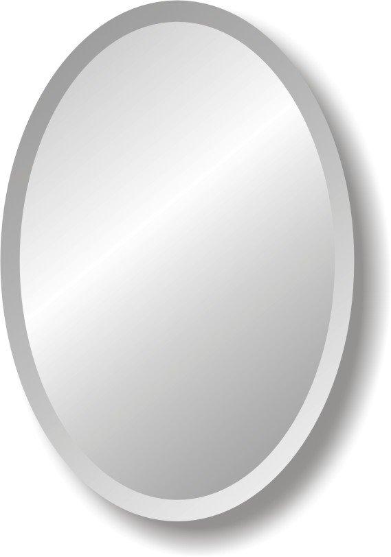 sin marco ovalado espejo del bao