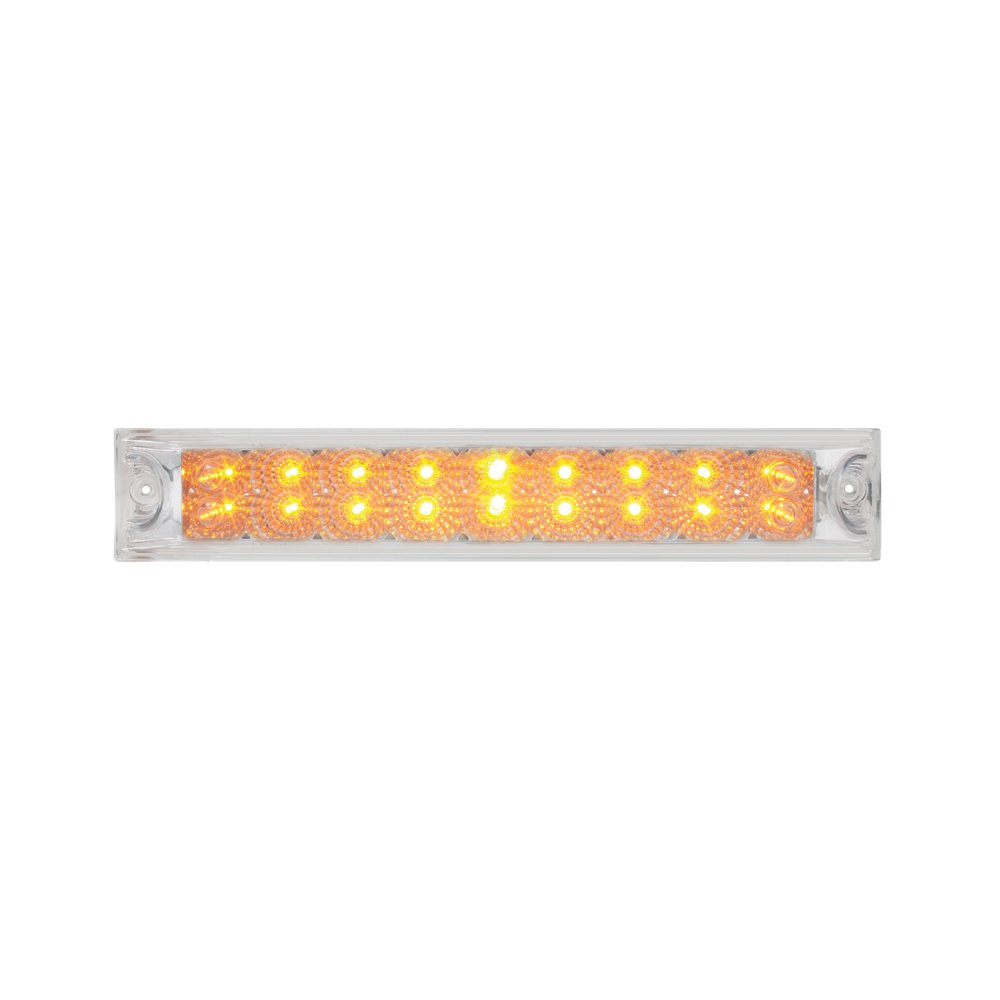 """Grand General 76986 Amber 12"""" Double Row Spyder 18-LED Park/Turn/Clearance Sealed Light Bar"""