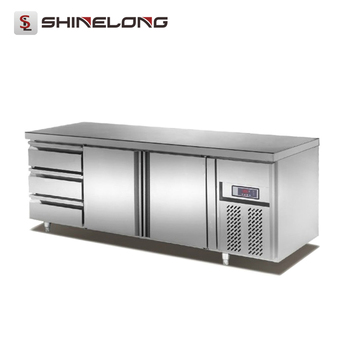 R100 2 Doors 3 Drawers Fancooling Counter Top Refrigerator Brands