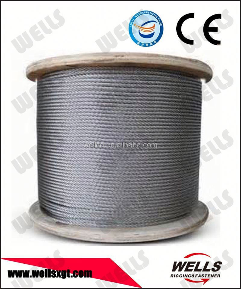China factory supply Hop Dip 6x19S+IWR Galvanized Crane Steel Cable