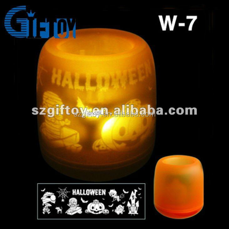 LED electronic flameless light pumkin projection Candle
