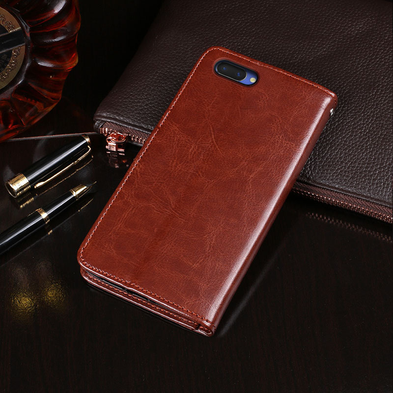 Leather Wallet Phone Case Wallet Flip Cover Case For OPPO A3S, Various colors available