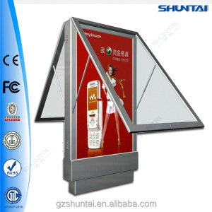 single side solar powered advertising Outdoor Scrolling standing street light Light Box
