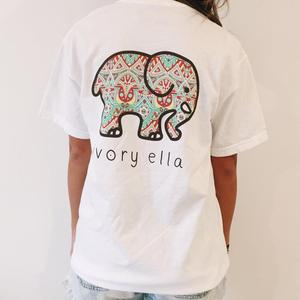 20af3774e 2018 Wholesale Customized Summer Womens Tops Ivory Ella Printing T-shirt