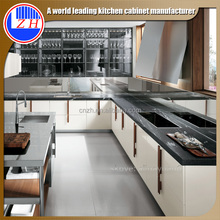 Zhihua high glossy color combination modern kitchen cabinet design for kitchen furniture