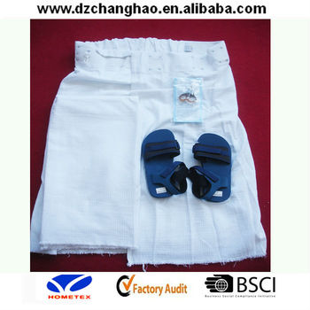 White Ihram Hajj Towels With Slipper