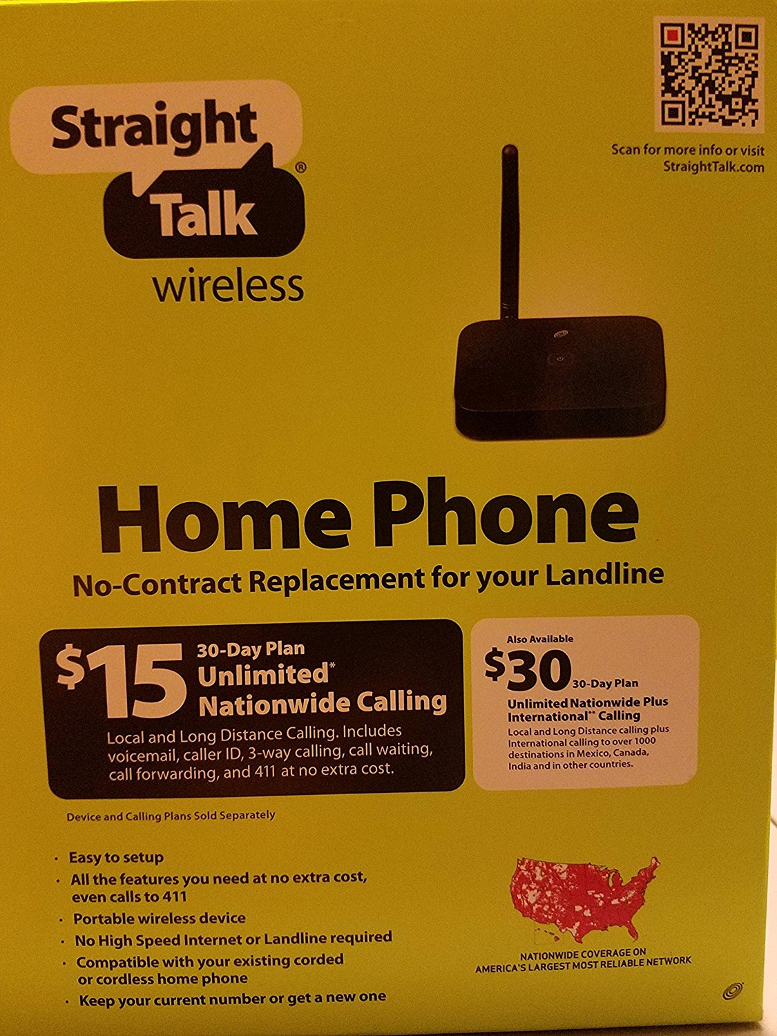 Straight Talk Wireless Home Phone No-Contract Replacement for Landline