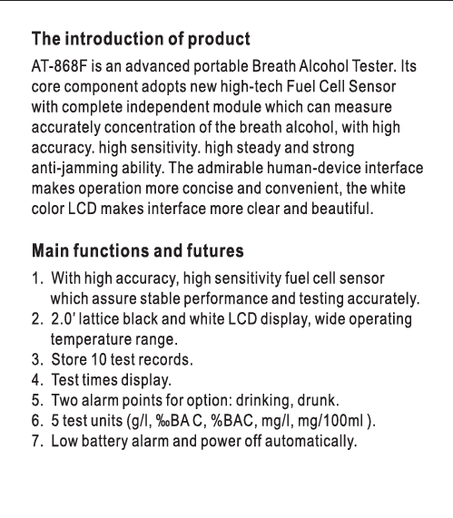 electronic breathalyzer Fuel Cell Sensor breathalyzer alcohol tester digital breath analyzer alcohol tester