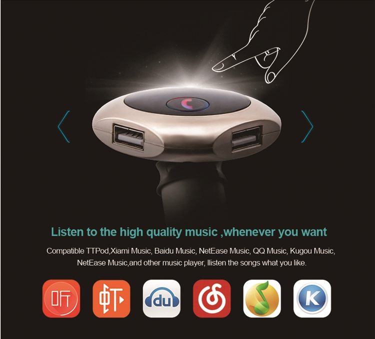 GXYKIT Q7 new coming handsfree car kit mp3 player with fm transmitter.jpg