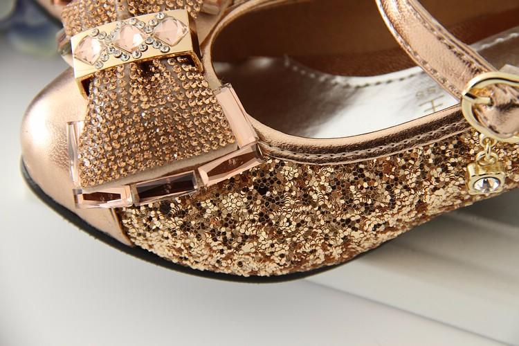 03b74f3de5b4 kids shoes 2017 sequin girl high heel shoes high quality gold and silver  fashion girls dress