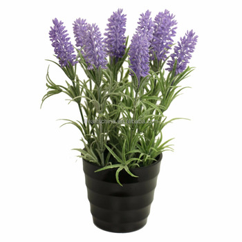 Flor De Lavanda Artificial 24 Cm H Potted Planta De Lavanda - Buy ...