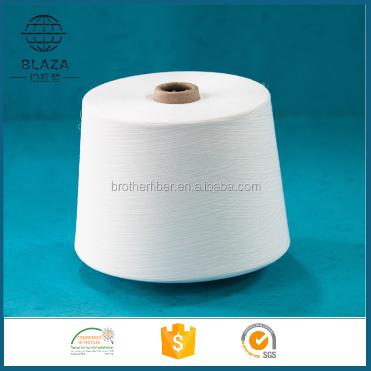 100s/1 polyester spun yarn for knitting and weaving