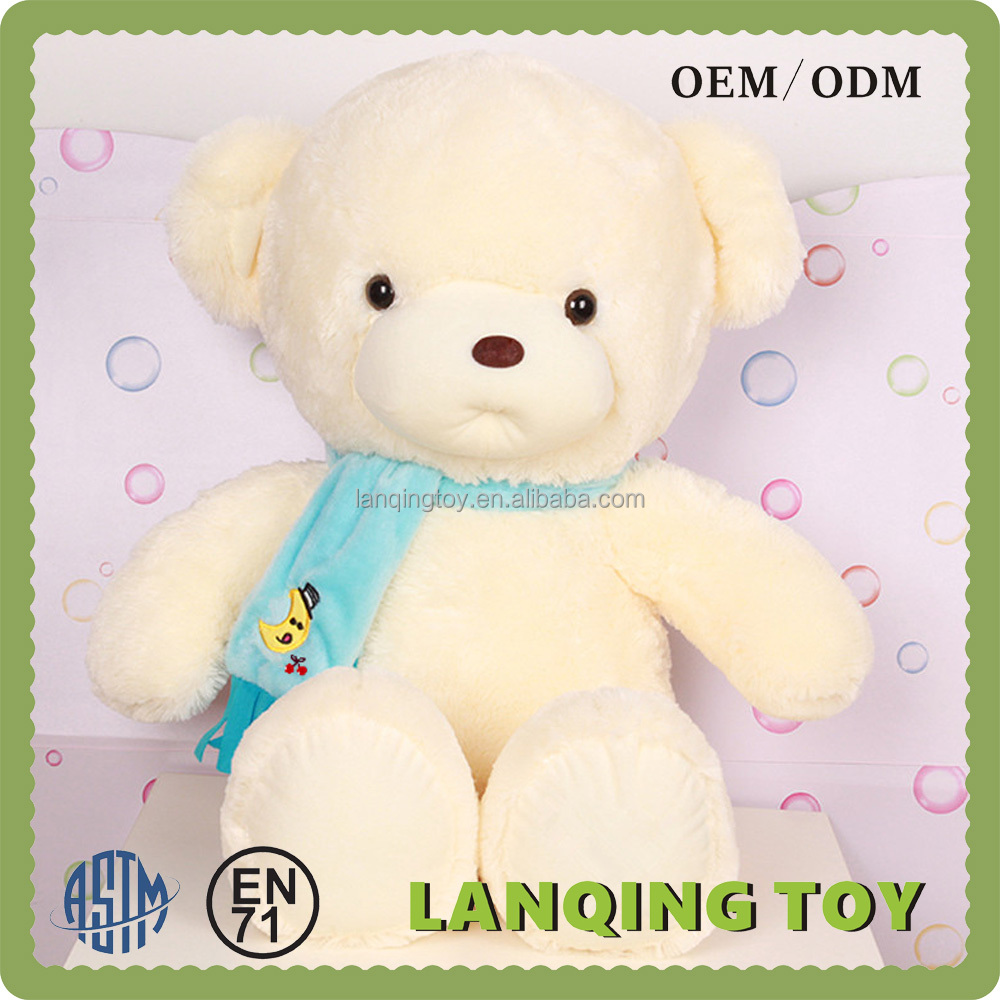 Wholesale Large Bears Plush Giant Teddy Bear With Scarf