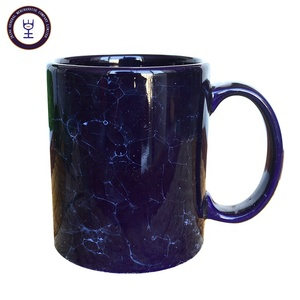 High grade ice crack solid color glazed porcelain mug