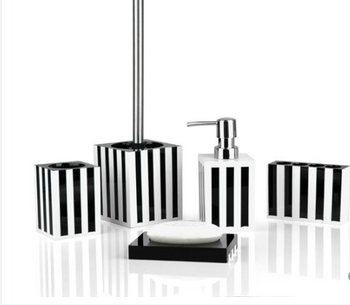 Popular new product black and white with line simple gift for Bathroom accessories hs code