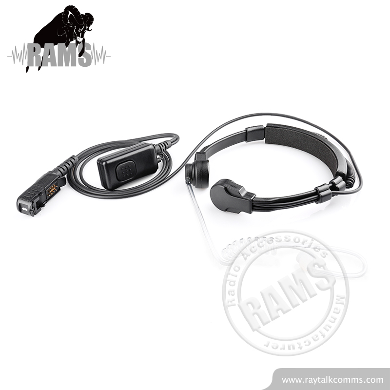 2 pin earpiece neckband style for Motorola walkie talkie headset with clear tube