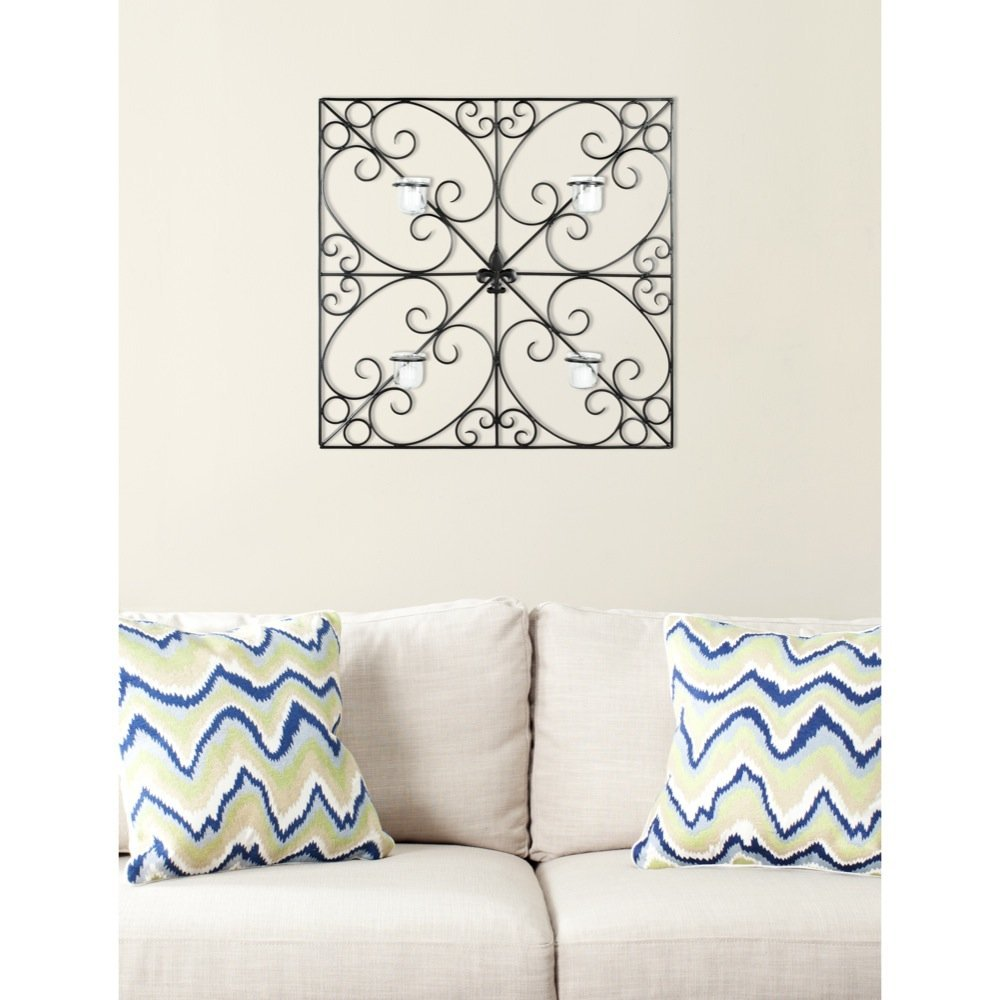 Safavieh Wall Art Collection Fleur-de-Lis Candle Holder Wall Sconce