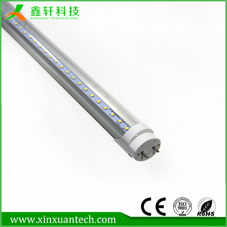 High lumen 6500k Alumnium+PMMA t8 led tube 1200mm 18w led read tube light
